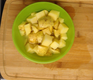 Prep the potatoes