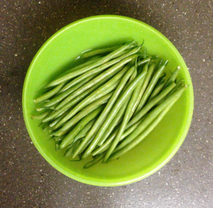 Prep the green beans